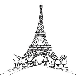 Stunning Eiffel Tower Coloring Page