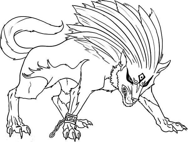 Print Super Wolf Coloring Page In Full Size