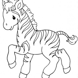 sweet little zebra coloring page - Zebra Coloring Pages