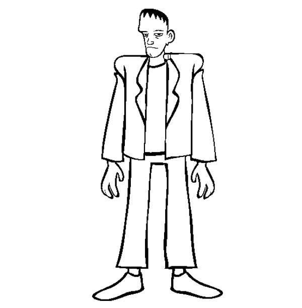 tall frankenstein coloring page - Frankenstein Coloring Sheet