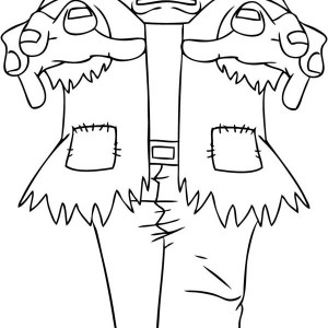 Terrific Frankenstein Coloring Page