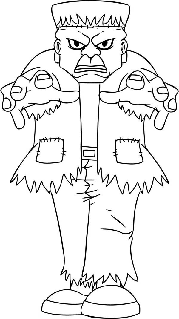 terrific frankenstein coloring page - Frankenstein Coloring Sheet