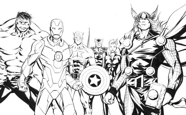 The Amazing Avengers Picture Coloring Page Download Print