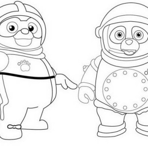 Special Agent Training in Special Agent Oso Coloring Page Special