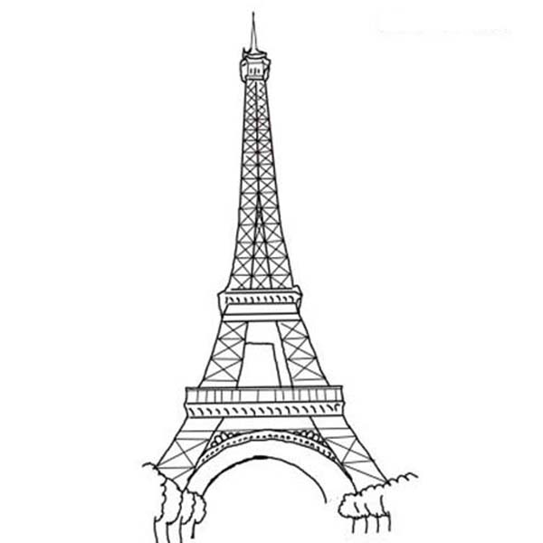 The Amazing of Eiffel Tower Coloring Page The Amazing of Eiffel