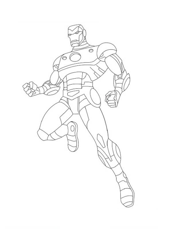 The Avengers Character Iron Man Coloring Page