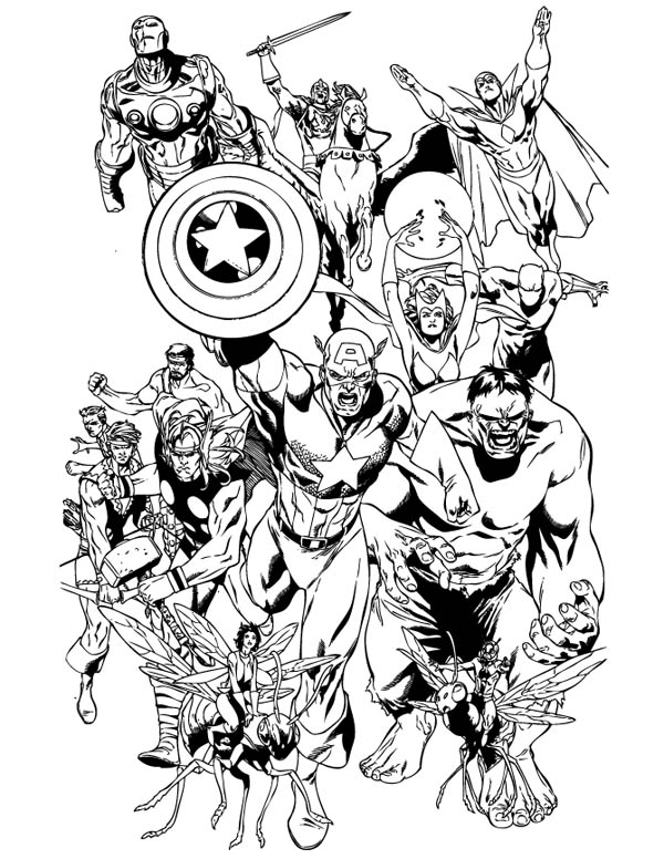 Emejing Avengers Coloring Pages Photos New Printable Coloring