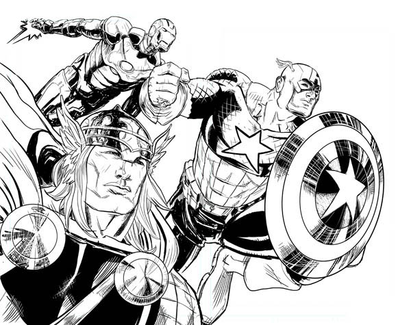 Avengers Tower Coloring Pages : The avengers finest attack coloring page download