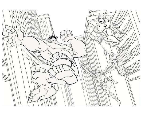 Avengers Christmas Coloring Pages : The awesome avengers picture coloring page download