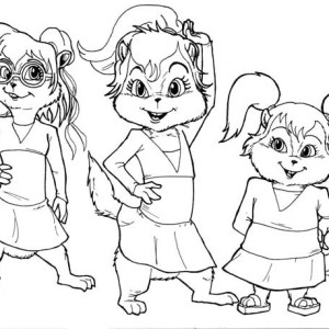 chipettes brittany coloring pages - photo#19