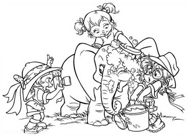 l bath time coloring pages - photo #17