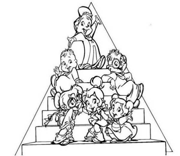 the chipettes and the chipmunks picture coloring page download