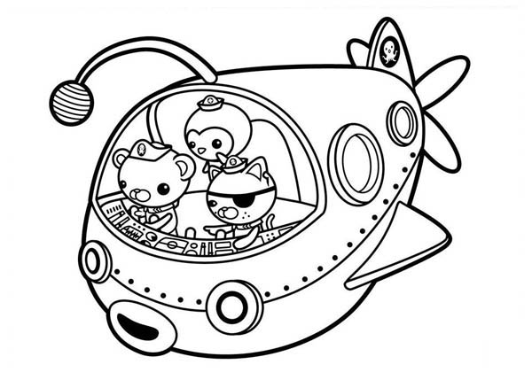 The Fun Adventures of The Octonauts Coloring Page Download