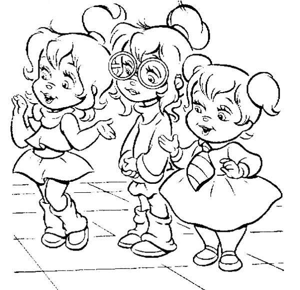 The gorgeous chipettes coloring page
