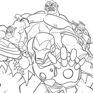 The Heroic Avengers Coloring Page