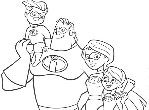 The Incredibles Family Coloring Page The Incredibles