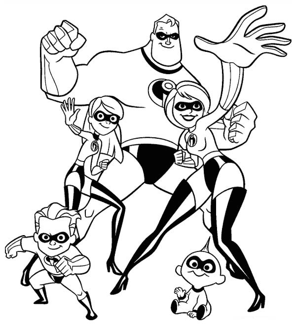 81 Incredibles Coloring Pages Disney Incredibles