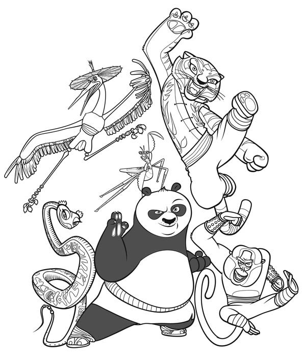 The Legend of Kung Fu Panda Coloring Page - Download & Print Online ...