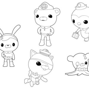The Octonauts Characters Coloring Page