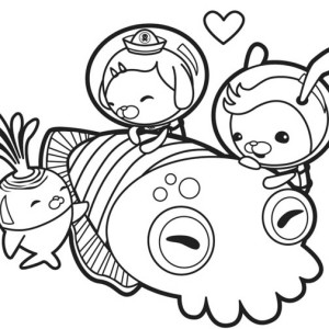 The Octonauts Meet Giant Squid Coloring Page