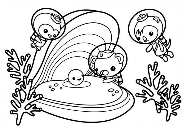 The Octonauts Meet Sea Shell Coloring Page
