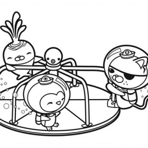 The Octonauts Playing Together Coloring Page
