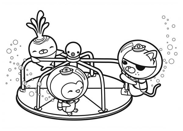 The Octonauts Playing Together Coloring Page Download Print