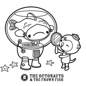 The Octopus and The Frown Fish of The Octonauts Coloring Page