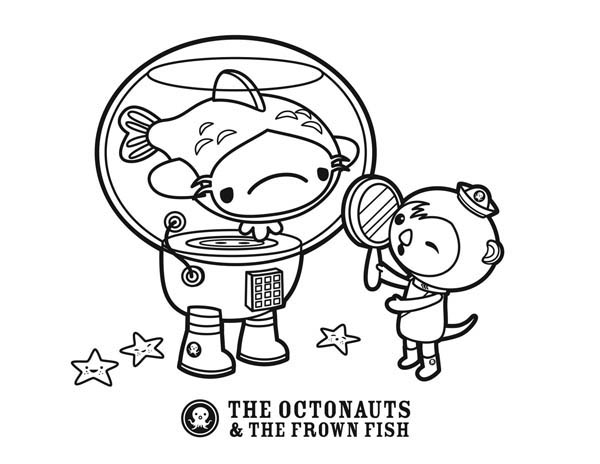 print the octopus and the frown fish of the octonauts coloring page in full size - Octonauts Coloring Pages Print