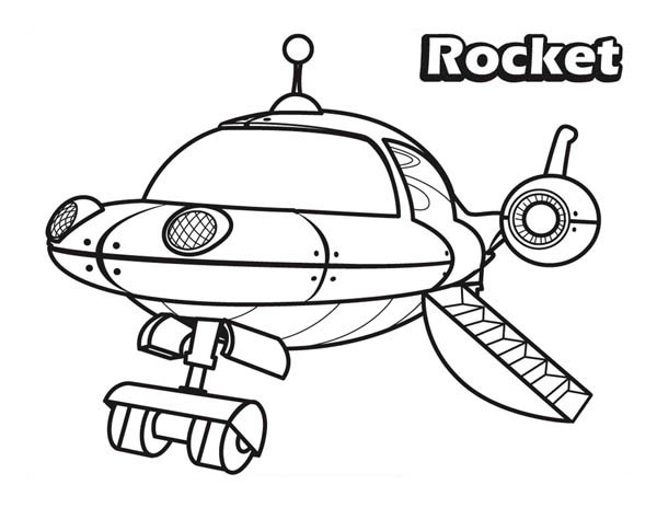 The Rocket in Little Einsteins Coloring Page Download Print