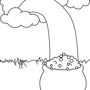 The Story of Leprechaun and Pot of Gold for St Patricks Day Coloring Page