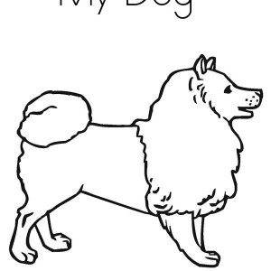This is My Dog, Isn't She Cute Coloring Page
