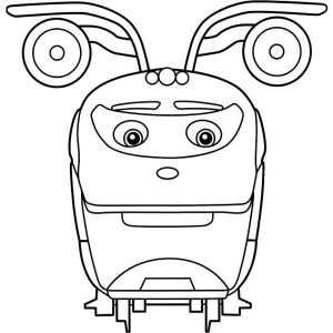 Toot from Chuggington Coloring Page