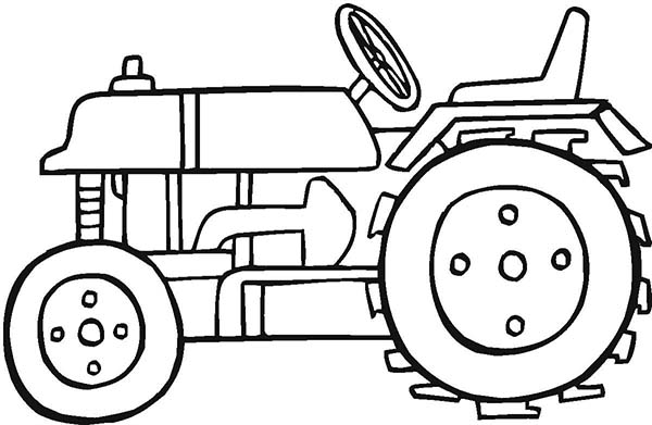 Tractor, : Tractor Picture Coloring Page