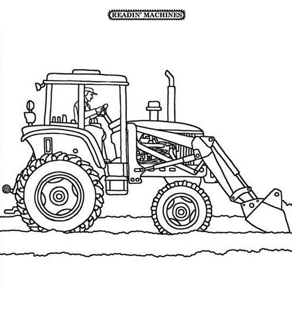 snow blower with light coloring page coloring pages