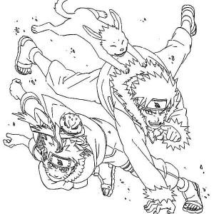 Uzumaki Naruto and Sennin Naruto Coloring Page