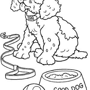 Very Soppy Dog After Eating Coloring Page