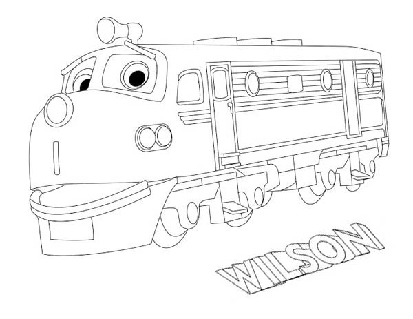 chuggington wilson from chuggington coloring page