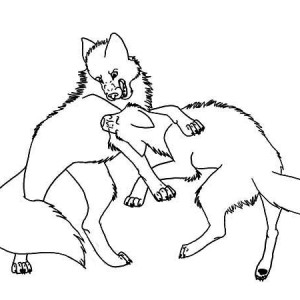 christmas wolf coloring pages | Mosaic Coloring Wolf Coloring Pages