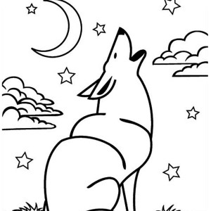 Wolf Howling Coloring Page