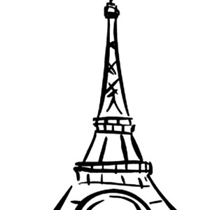 World Destination Eiffel Tower Coloring Page