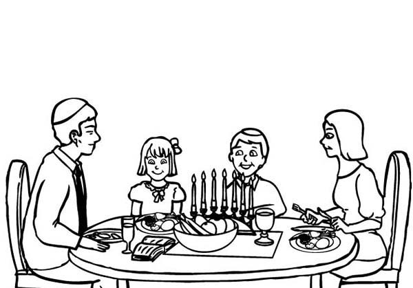 Passover Meal Coloring Page - Download & Print Online Coloring Pages ...