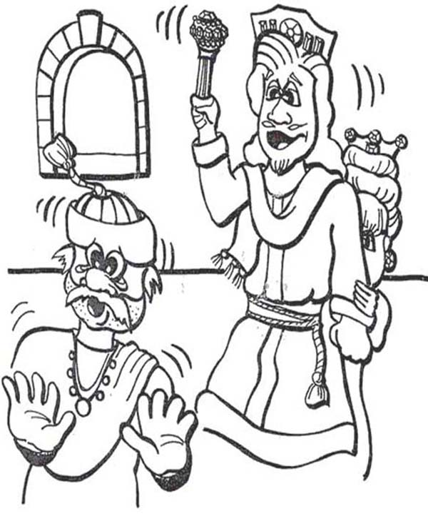 Ahasuerus The King of Persia in Purim Coloring Page - Download ...