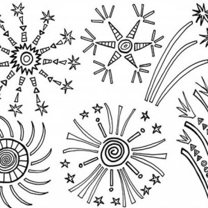 Amazing 4th of July Fireworks Coloring Page