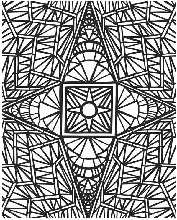 Amazing Picture of Mosaic Coloring Page Download Print Online
