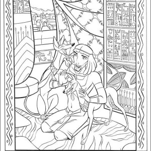 ancient egypt mosaic coloring page - Mosaic Coloring Book