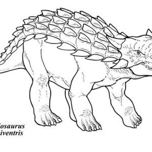 ankylosaurus coloring pages - photo#27
