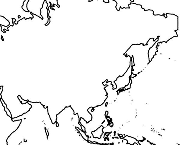 Asia map coloring page with words coloring pages for Asia map coloring page