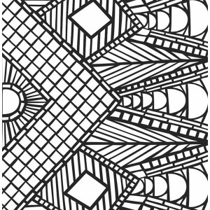 Awesome Geometric Mosaic Coloring Page
