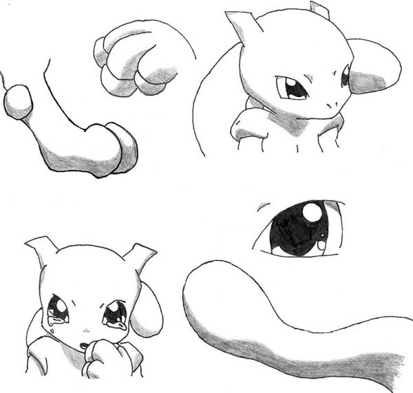 Baby Mewtwo Coloring Page Baby